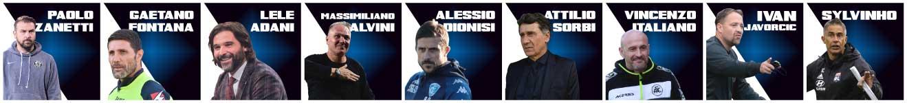 Relatori Master 2021 Digital Edition Adani, Javorvic, Sylvinho, Italiano