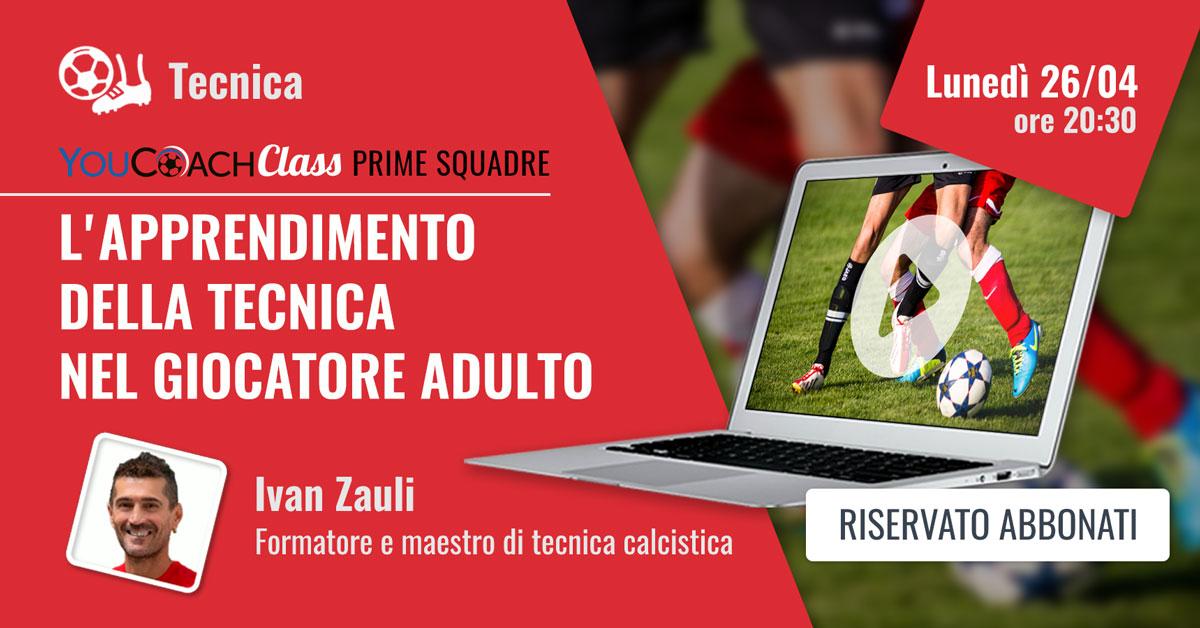 YouCoachClass webinar sul calcio e sulla tecnica