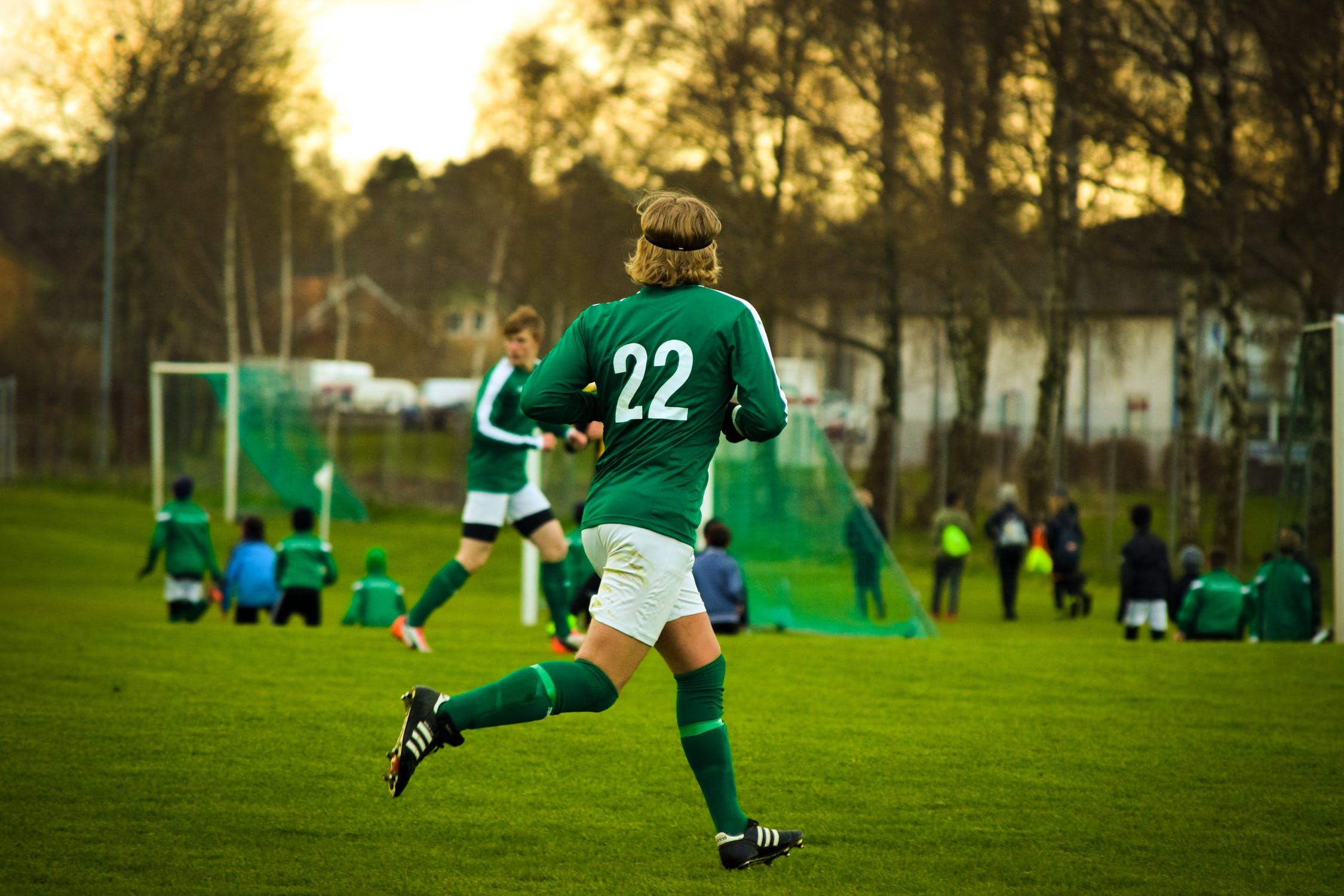 Partita calcio azione