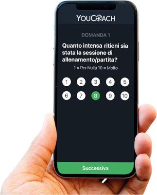 Questionario giocatori mobile YouCoachApp