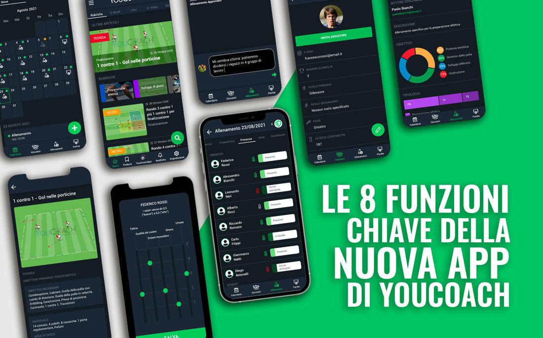 Le 8 funzioni principali di YouCoachApp Mobile: la nuova app smartphone per gli allenatori di calcio