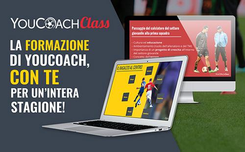 YouCoachClass webinar per allenatori di calcio