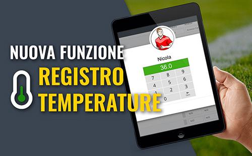 Novità: gestisci il registro delle temperature con  YouCoachApp