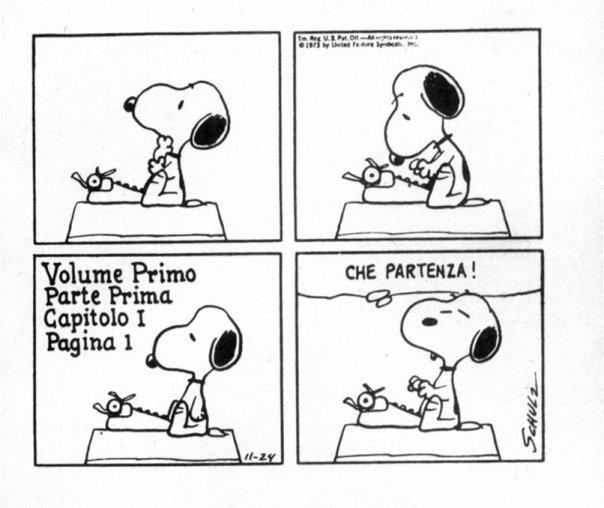 Snoopy comics vignetta