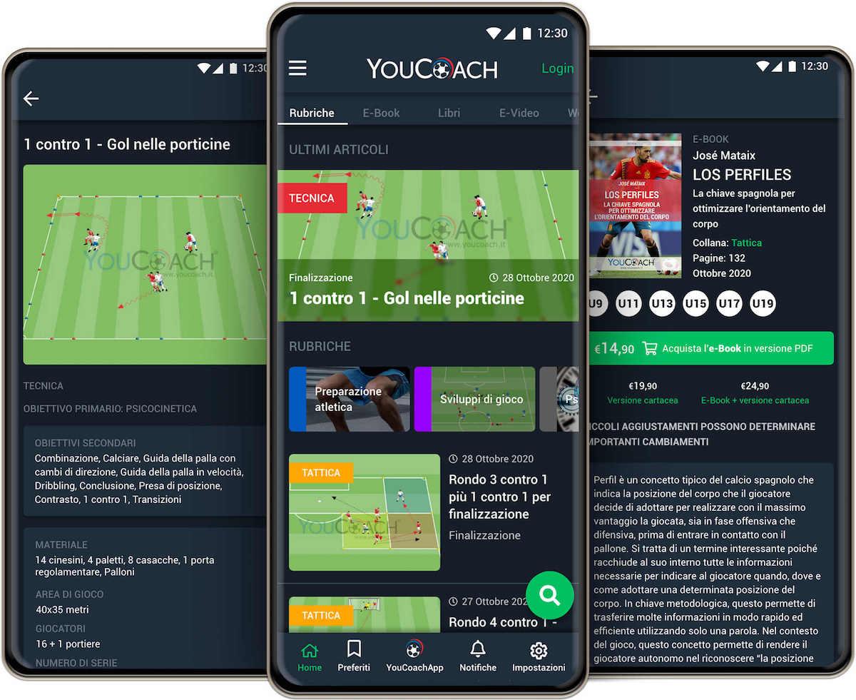 Consulta gli esercizi e le rubriche di YouCoach e salva i tuoi preferiti